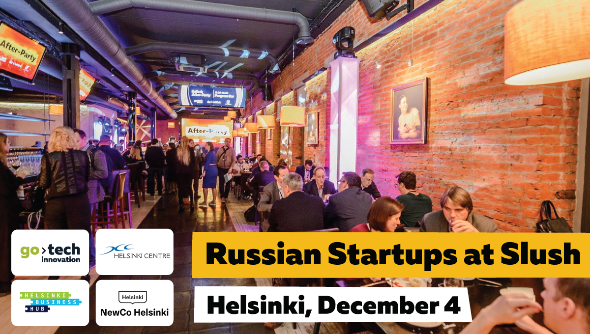 Russian startups pitch&networking event at Slush