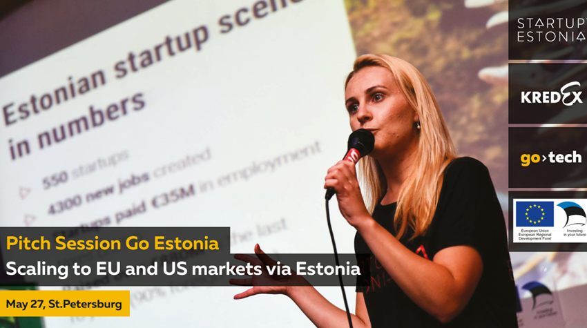 Go Estonia pitch session in St. Petersburg